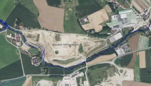 Luftbild dieses Monsterprojektes vor der EFKO in Hinzenbach