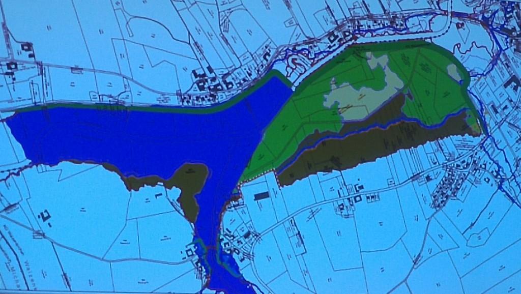 Veränderung Überflutungen mit Damm